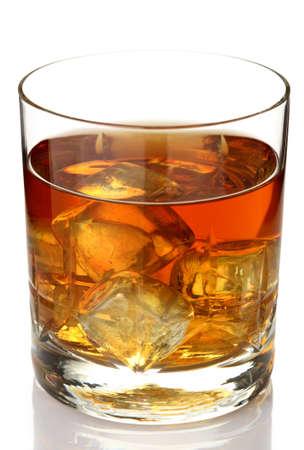 scotch whisky: Glass of whiskey on rocks  Stock Photo