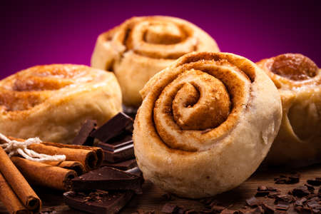 Sweet cinnamon rolls  photo
