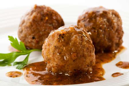 Roasted meatballs Foto de archivo