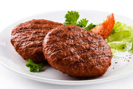 beefsteak: Grilled beefsteak and vegetables Stock Photo