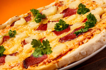 Close-up of pizza photo