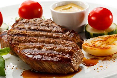 グリル ステーキと野菜