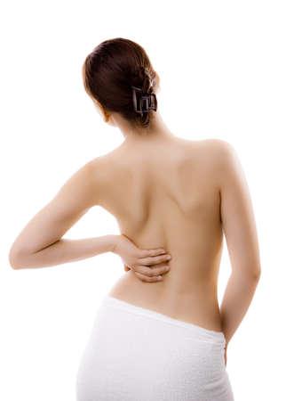 Woman with backache photo