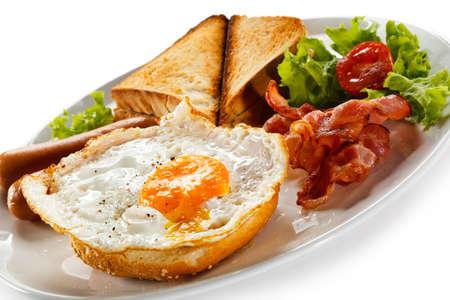 huevos fritos: Un plato de desayuno Inglés