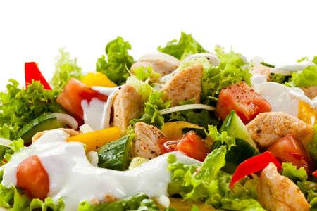 chicken salad: Grilled chicken and vegetable salad