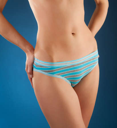 undergarment: Slim woman in undergarment
