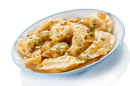 Close up of cheese ravioli photo