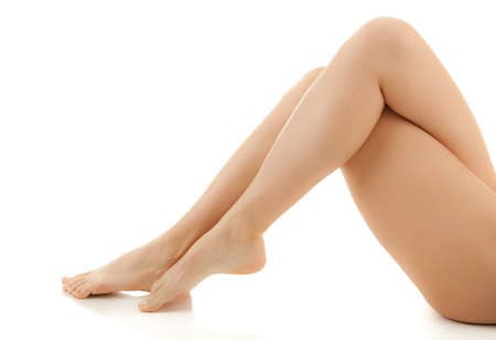 bare body women: Woman with slender legs