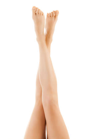 waxed: Close up of woman with slender legs