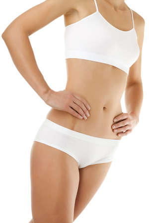 undergarment: Woman in undergarment Stock Photo