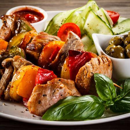 野菜や肉のグリル