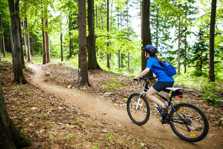 Healthy lifestyle  teenage girl cycling