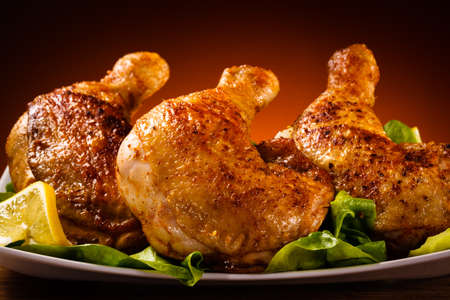 chicken grill: Grilled chicken leg