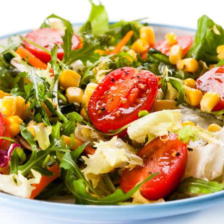 maiz: ensalada de vegetales  Foto de archivo
