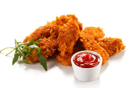 Fried Chicken Nuggets und Gemüse