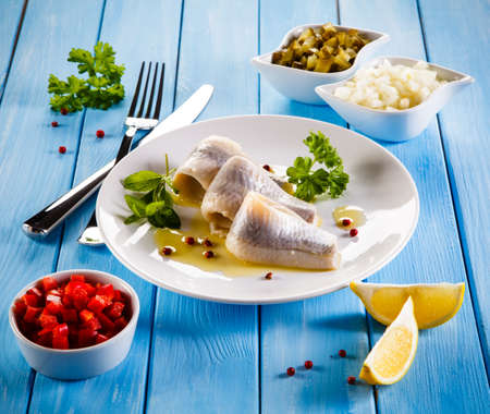marinated: Marinated herring fillets