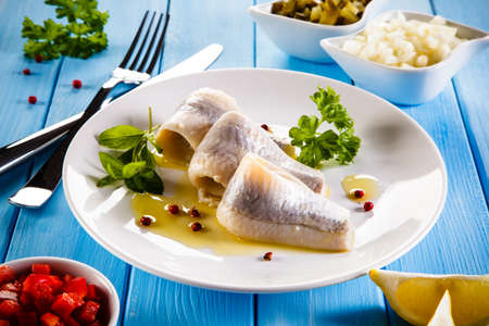 fillets: Marinated herring fillets