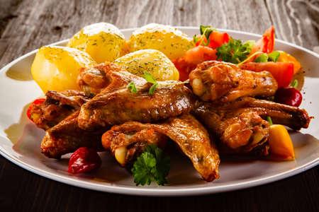 nuggets pollo: Pepitas y veh�culos de pollo a la parrilla