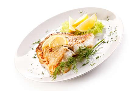 Visschotel - gebakken visfilet en groenten
