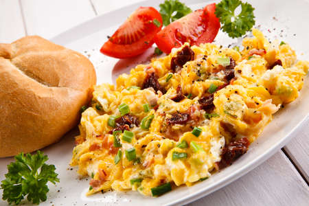 scrambled eggs: Breakfast - scrambled eggs