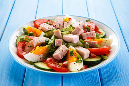 jamon: Jamón, huevos y verduras hervidas