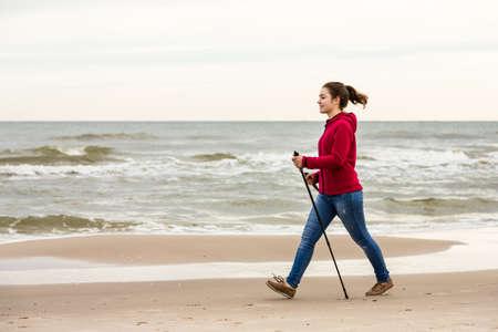 Nordic Walking  Foto de archivo