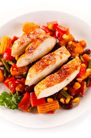 pimenton: Kebab - carne a la brasa y verduras Foto de archivo