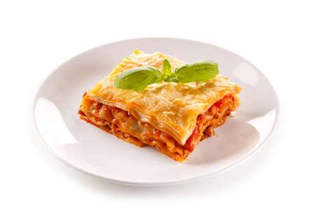 sauce dish: Lasagna Stock Photo