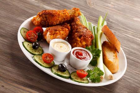 drumsticks: Roasted chicken drumsticks