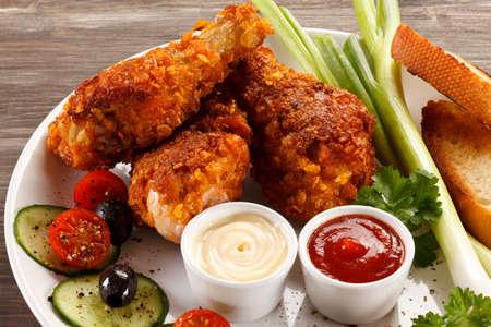 Roasted chicken drumsticks