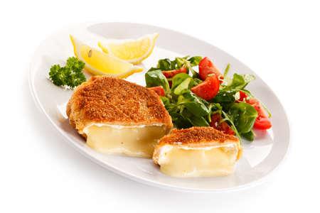 camembert: Grilled camembert Stock Photo