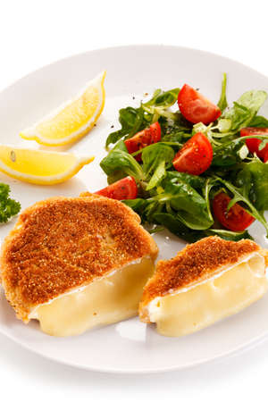 camembert: Grilled camembert Stock Photo