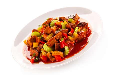 goulash: goulash dish Stock Photo