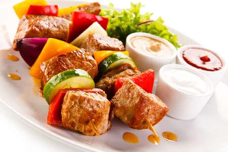 aves de corral: plato de kebab
