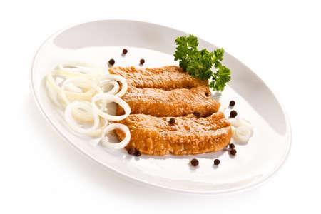 Visschotel - gebakken haring