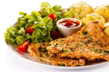 chop: Fried pork chop