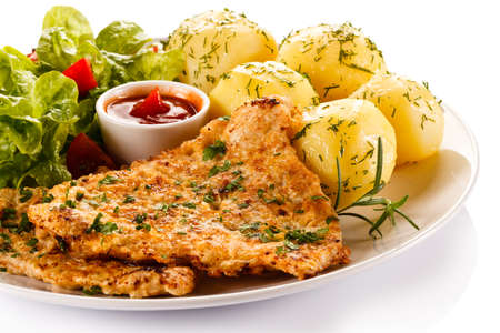chops: Fried pork chop