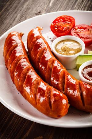 chorizos asados: Grilled sausages - Angielski breakfast
