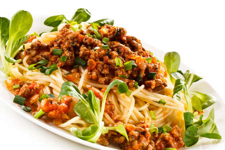 bolognese sauce: Pasta with bolognese sauce