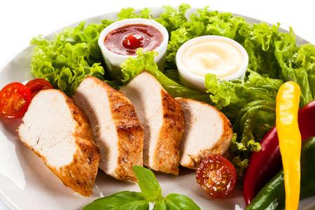 roast meat: Grilled chicken fillet