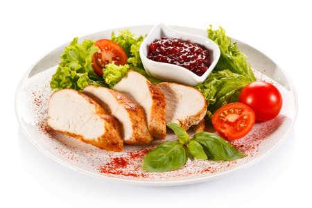chicken fillet: Grilled chicken fillet with vegetables