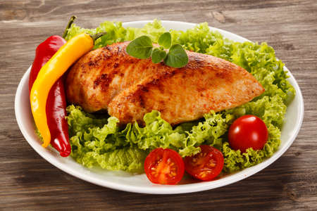 Filet de poulet grillé Banque d'images