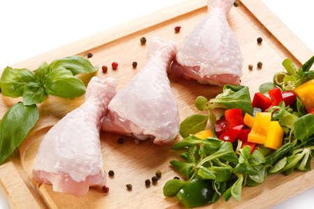 poultry: fresh raw chicken legs