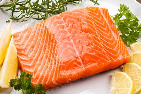 fresh fish: Fresh raw salmon Stock Photo