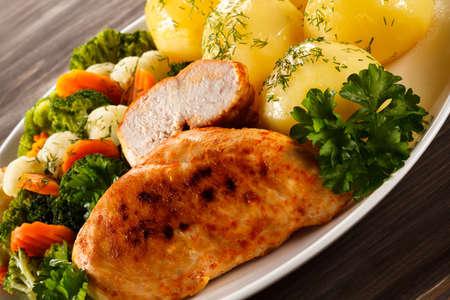 Filet de poulet grillé