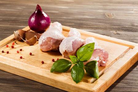 uncooked: fresh raw chicken legs