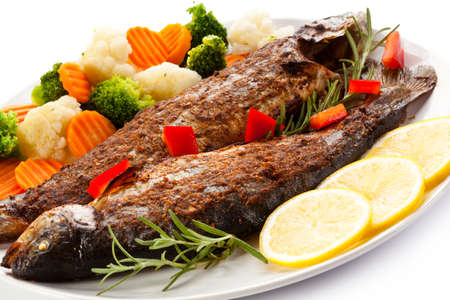 Fried herring - fish dish
