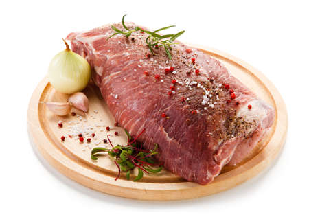raw beef: Fresh raw pork Stock Photo