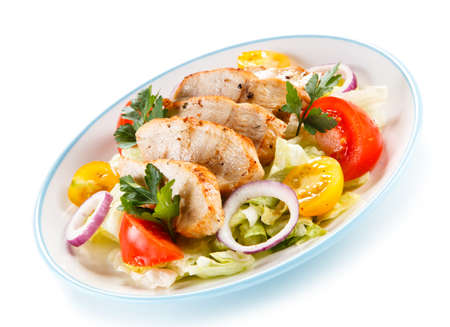 lowfat: Salad with grilled chicken