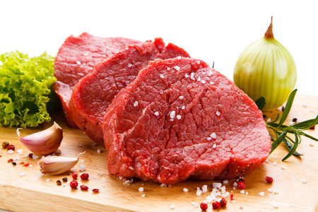 Raw Meat: Fresh raw beef Stock Photo